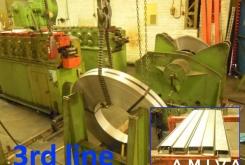 RAS rollforming + decoiler for making U&C-profiles