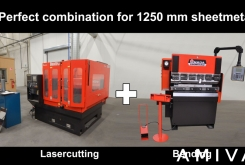 AMADA Laser + Pressbrake 1250 mm